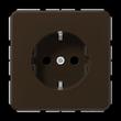 CD1520BR JUNG Schukosteckdose 1-fach, braun, glänzend Produktbild