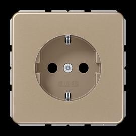 CD1520GB JUNG Schuko-Steckdose 1-fach, gold/bronze Produktbild