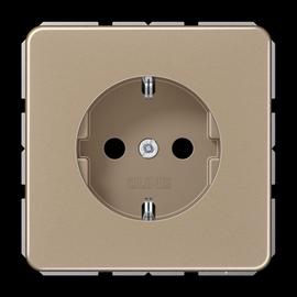 CD1520KIGB JUNG Schuko-Steckdose KI 1-fach, gold/bronze Produktbild