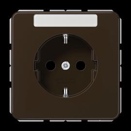 CD1520NABR JUNG Schuko-Steckdose + Schriftfeld, 1-fach, braun, glänzend Produktbild