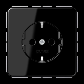 CD1520SW JUNG Schuko-Steckdose 1-fach, schwarz, glänzend Produktbild