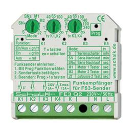 fe3q29 PCE Funk-Empfängersch., 4 Relais 230V AC (UP), m. Zeitfunktion Produktbild