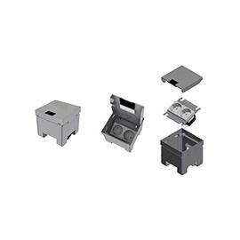 E6690 Elitec UBD-SET Unterflur-Bodendose +Chromstahldeckel 100x100mm UBD100 Produktbild