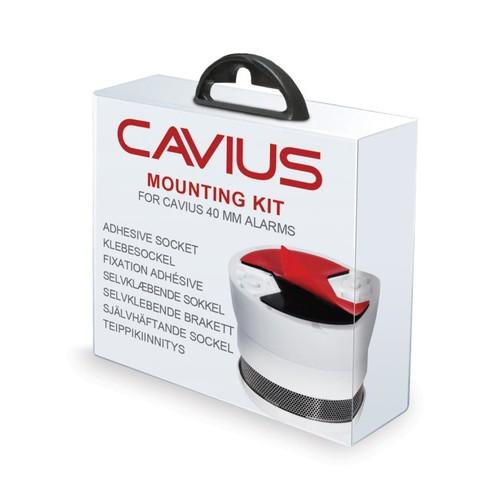 S10-2-1001 Cavius Klebesockel für Invisible Rauch- & Hitzemelder 40mm Produktbild Front View L