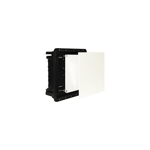 1005 ImanBox Hohlwandmauerkasten 100x100 mit Doppeldeckel f. mauerbündigen Einbau Produktbild Front View L