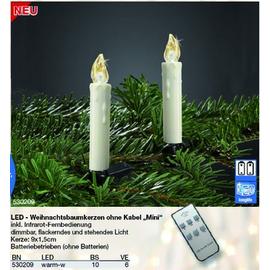 530209 Hellum LED Weihnachtsbaumkerzen o.Kabel, warm-w,+Fernbedienung 10Stk/Set Produktbild