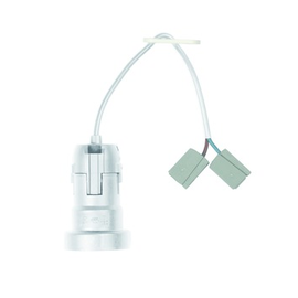 E641.2711 Bachmann Baustellenfassung E27 weiß, 0,2m H03VV-F 2x075mm² Steckklemme Produktbild