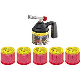 1000000985 Rothenberger Lötpistolenset inkl. 5 Gas-Kartuschen C200 Produktbild