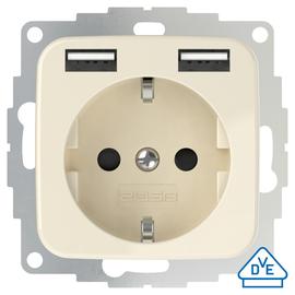 2U-449399 2USB Schukosteckdose JP-5502F inChargePro SI 32mm für SI-Duro Weiß Produktbild