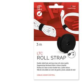 LTC 1210 Label the cable Roll Strap 3m Doppelseitiges Klettband 16mm schwarz Produktbild