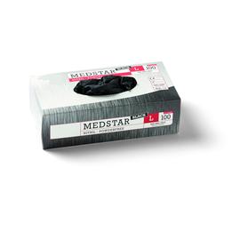 49203 Medstar Nitril Einweghandschuh schwarz Gr.L/9 (Box=100 Stk.) Produktbild