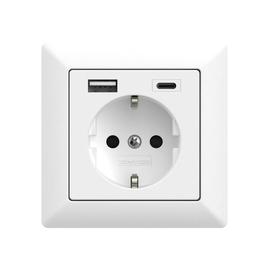 2U-449528 2USB Schukosteckdose JP-5503F inChargePro55 reinweiß matt USB A+C Produktbild