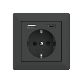 2U-449542 2USB Schukosteckdose JP-5503F inChargePro55 anthrazit matt USB A+C Produktbild