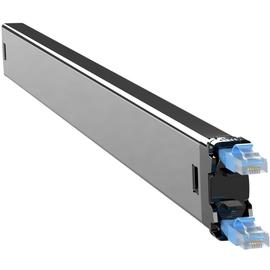 C60STPXC6XXX1B PATCHBOX Plus+ STP Netzwerk Kabelmanagement Casette Blau Produktbild