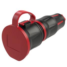 25711-sr PCE Schutzkontaktkupplung Toptaurus2 PA6 2K Schnellverschlusssyst. Produktbild