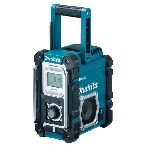 DMR106 Makita Akku Baustellenradio + Bluetooth + USB Produktbild Front View L