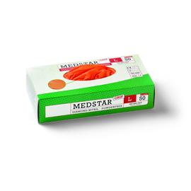 49153 Medstar Einweghandschuh orange 50 Grip Gr. L/9 1 Box (50 Paar=100 STK) Produktbild