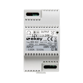 100205 Ekey Hutschienennetzteil 230VAC 12VDC 2,5A REG 3TE Produktbild