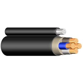 YMT-O 3X2,5 RE schwarz Messlänge PVC-Mantelleitung mit Tragorgan Produktbild