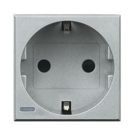 HC4141W Bticino Schukosteckdose Aluminium SL Produktbild