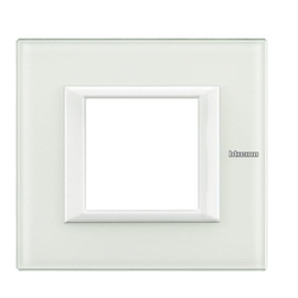 HA4802VBB Bticino Rahmen 2 Mod. White Glas Produktbild