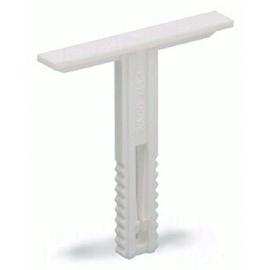 249-120, Wago, Gruppenschildträger mit Beschriftungsfläche 6mm breit weiss Produktbild