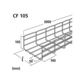 CM00891 CABLOFILL Gitterbahn 105x100mm verz. CF105/100 BS EZ Produktbild