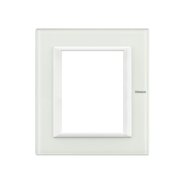 HA4826VBB Bticino Rahmen 3+3 Mod. White Glass Produktbild