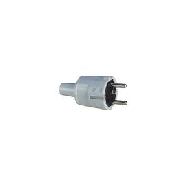 1418080 ABL Schuko-Stecker weiß PVC Produktbild