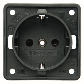 0941852505 BERKER Integro Modul Schuko- Steckdosen Einsatz anthrazit matt Produktbild
