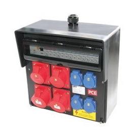 92401818 PC-Electric Wandverteiler Gummi Baureihe Bruck 4xCEE 5x32A 4XSSD Produktbild