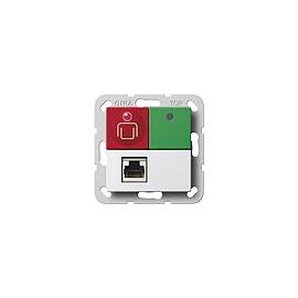 590303 Gira Ruf-/Abstelltaster Nebensteckkontakt System 55 reinweiss Produktbild