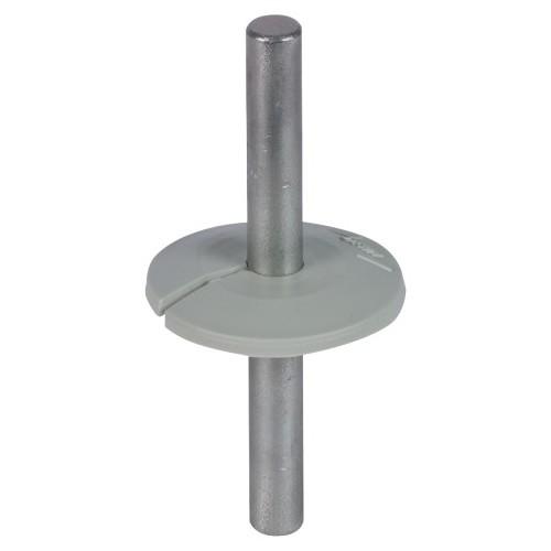 276056 Dehn Wasserableiter 8mm grau Manschette als Tropfwasserkante Produktbild Front View L