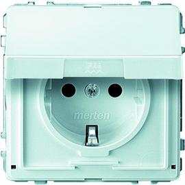 MEG2310-7219 Merten Schuko Steckdose mit Klappdeckel Polarweiss Aquadesign Produktbild