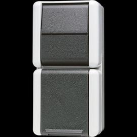 876W JUNG WECHSEL-SCHUKO KOMBI FR AP IP44 Produktbild