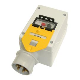 210318 PC-Electric Isogehäuse mit Motor- schutzschalter+Gerätestecker 5x16 6,3-10 Produktbild