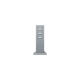 134126 GIRA  Energiesäule m.3xSchuko- Steckdose alu IP44  142x491x75 Produktbild