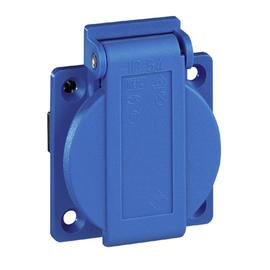 10003 Walther Maschinensteckdose 50x50 blau IP54 mit schraubenloser Klemmen Produktbild