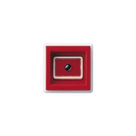 016803 Gira Notruf-Taster mit Abdeckrahmen Rot Produktbild