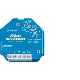 30100004 Eltako FSR61/8-24V UC Funkaktor FSR61/8-24V UC Stromstoß-Schaltrelai Produktbild