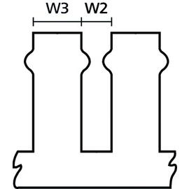 2100221 Bocchiotti Kabelkanal geschlitzt H=100,B=25 / T1-F 25x100 (2m) Produktbild
