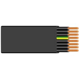 H07VVH6-F 5G6 schwarz Messlänge PVC-Flachleitung Produktbild