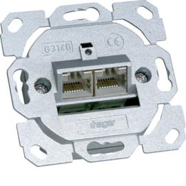 G3140 TEHALIT Datendose Cat.6A 2fach 8/8 polig Produktbild