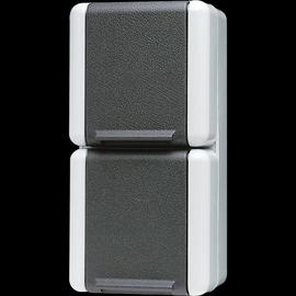 822W JUNG Schuko-Steckdose 2-fach FR AP senkrecht Produktbild