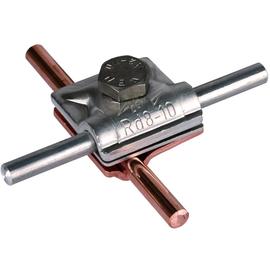 390657 Dehn Zweimetall MV-Klemme 8-10 CU/Al inkl. Cupalplatte Produktbild
