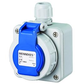 AM 10863 Mennekes Schuko-Wanddose blau 16A 2P+E 230V IP68 Produktbild