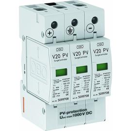 5094608 OBO Überspannungs-Ableiter V20-C 3-PH-1000V DC Produktbild