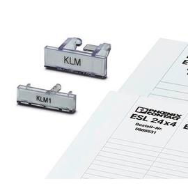 1004306 PHOENIX KLM Klemmleistenmarker aufrastbar auf E/UK 25x6mm Produktbild