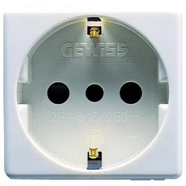GW20205 GEWISS Steckd. 2P+E 16A ITAL/ Deutsch.St-Wt Produktbild