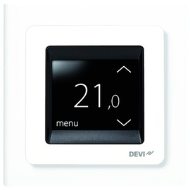 140F1064 Danfoss Thermostat DEVIreg Touch mit 2Zoll Touch Display polarweiss Produktbild